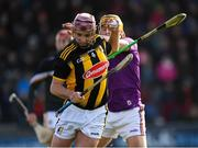 16 February 2020; Ciaran Wallace of Kilkenny is tackled by Damien Reck of Wexford during the Allianz Hurling League Division 1 Group B Round 3 match between Wexford and Kilkenny at Chadwicks Wexford Park in Wexford. Photo by Ray McManus/Sportsfile