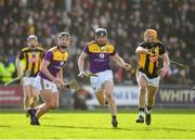 16 February 2020; Conor Dunbar of Wexford is tackled by John Donnelly of Kilkenny during the Allianz Hurling League Division 1 Group B Round 3 match between Wexford and Kilkenny at Chadwicks Wexford Park in Wexford. Photo by Ray McManus/Sportsfile