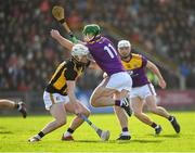 16 February 2020; Aidan Nolan of Wexford is tackled by Conor Browne of Kilkenny during the Allianz Hurling League Division 1 Group B Round 3 match between Wexford and Kilkenny at Chadwicks Wexford Park in Wexford. Photo by Ray McManus/Sportsfile
