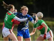 16 February 2020; Caoimhe McGrath of Waterford in action against Ciara McManamon, left, Aisling Tarpey, behind, and Allanah Duffy of Mayo during the Lidl Ladies National Football League Division 1 Round 3 match between Mayo and Waterford at Swinford Amenity Park in Swinford, Mayo. Photo by Sam Barnes/Sportsfile