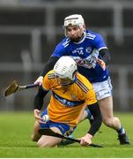 16 February 2020; Aidan McCarthy of Clare in action against Stephen Bergin of Laois during the Allianz Hurling League Division 1 Group B Round 3 match between Clare and Laois at Cusack Park in Ennis, Clare. Photo by Eóin Noonan/Sportsfile