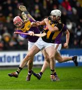 16 February 2020; Michael Carey of Kilkenny is tackled by Paudie Foley of Wexford during the Allianz Hurling League Division 1 Group B Round 3 match between Wexford and Kilkenny at Chadwicks Wexford Park in Wexford. Photo by Ray McManus/Sportsfile