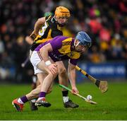 16 February 2020; Kevin Foley of Wexford is tackled by Billy Ryan of Kilkenny during the Allianz Hurling League Division 1 Group B Round 3 match between Wexford and Kilkenny at Chadwicks Wexford Park in Wexford. Photo by Ray McManus/Sportsfile