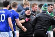 16 February 2020; Cavan manager Mickey Graham with his players after the Allianz Football League Division 2 Round 3 match between Laois and Cavan at MW Hire O'Moore Park in Portlaoise, Laois. Photo by Piaras Ó Mídheach/Sportsfile