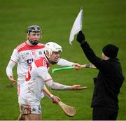 16 February 2020; Luke Meade, right, and Jack O'Connor of Cork appeal to the sideline official during the Allianz Hurling League Division 1 Group A Round 3 match between Westmeath and Cork at TEG Cusack Park in Mullingar, Westmeath. Photo by Ramsey Cardy/Sportsfile