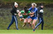 16 February 2020; Rachel Kearns of Mayo in action against Megan Dunford of Waterford during the Lidl Ladies National Football League Division 1 Round 3 match between Mayo and Waterford at Swinford Amenity Park in Swinford, Mayo. Photo by Sam Barnes/Sportsfile