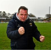 16 February 2020; Wexford manager Davy Fitzgerald reacts as the final whistle is blown at the Allianz Hurling League Division 1 Group B Round 3 match between Wexford and Kilkenny at Chadwicks Wexford Park in Wexford. Photo by Ray McManus/Sportsfile