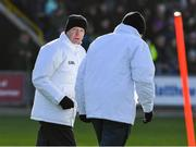 16 February 2020; Former Tipperary kitman John 'Hotpoint' Hayes, left, heads to his post as an umpire before the Allianz Hurling League Division 1 Group B Round 3 match between Wexford and Kilkenny at Chadwicks Wexford Park in Wexford. Photo by Ray McManus/Sportsfile