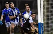 4 January 2020; Aaron Branagan of Kilcoo and Ballyboden St Enda's players, from left, Darragh Gogan, Bob Dwan, and Brian Bobbett watch the ball cross the Ballyboden St Enda's endline during the AIB GAA Football All-Ireland Senior Club Championship semi-final match between Kilcoo and Ballyboden St Enda's at Kingspan Breffni in Cavan. Photo by Piaras Ó Mídheach/Sportsfile