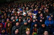 16 February 2020; Supporters in the main stand cheer for Wexford during the last minute of the Allianz Hurling League Division 1 Group B Round 3 match between Wexford and Kilkenny at Chadwicks Wexford Park in Wexford. Photo by Ray McManus/Sportsfile
