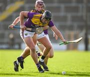 16 February 2020; Conor McDonald of Wexford is taackled by Ciaran Wallace of Kilkenny during the Allianz Hurling League Division 1 Group B Round 3 match between Wexford and Kilkenny at Chadwicks Wexford Park in Wexford. Photo by Ray McManus/Sportsfile