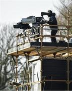 16 February 2020; TVM, Television Mobiles Ltd, personnel operate television cameras during the Allianz Hurling League Division 1 Group B Round 3 match between Wexford and Kilkenny at Chadwicks Wexford Park in Wexford. Photo by Ray McManus/Sportsfile