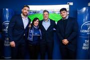 15 February 2020; Leinster players Jack Conan, James Tracy and Vakh Abdaladze with supporters in the blue room prior to the Guinness PRO14 Round 11 match between Leinster and Toyota Cheetahs at the RDS Arena in Dublin. Photo by Harry Murphy/Sportsfile