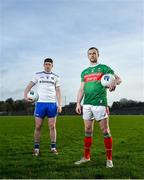 17 February 2020; Keith Higgins of Mayo, right, and Darren Hughes of Monaghan during a Media Event in advance of the Allianz Football League Division 1 Round 4 match between Monaghan and Mayo on Sunday at St. Tiernach's Park in Clones, Co Monaghan. Photo by David Fitzgerald/Sportsfile