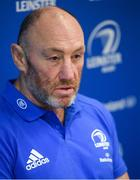 17 February 2020; Scrum coach Robin McBryde during a Leinster Rugby Press Conference at Leinster Rugby Headquarters in UCD, Dublin. Photo by Ramsey Cardy/Sportsfile