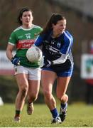 16 February 2020; Liz Devine of Waterford in action against Rachel Kearns of Mayo during the Lidl Ladies National Football League Division 1 Round 3 match between Mayo and Waterford at Swinford Amenity Park in Swinford, Mayo. Photo by Sam Barnes/Sportsfile