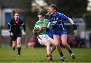 16 February 2020; Tamara O'Connor of Mayo in action against Liz Devine of Waterford during the Lidl Ladies National Football League Division 1 Round 3 match between Mayo and Waterford at Swinford Amenity Park in Swinford, Mayo. Photo by Sam Barnes/Sportsfile