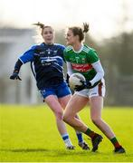 16 February 2020; Ciara McManamon of Mayo in action against Karen McGrath of Waterford during the Lidl Ladies National Football League Division 1 Round 3 match between Mayo and Waterford at Swinford Amenity Park in Swinford, Mayo. Photo by Sam Barnes/Sportsfile