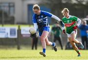 16 February 2020; Caoimhe McGrath of Waterford in action against Grace Kelly of Mayo during the Lidl Ladies National Football League Division 1 Round 3 match between Mayo and Waterford at Swinford Amenity Park in Swinford, Mayo. Photo by Sam Barnes/Sportsfile