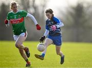 16 February 2020; Aileen Wall of Waterford in action against Nicola O'Malley of Mayo during the Lidl Ladies National Football League Division 1 Round 3 match between Mayo and Waterford at Swinford Amenity Park in Swinford, Mayo. Photo by Sam Barnes/Sportsfile