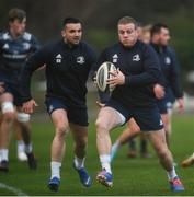17 February 2020; Seán Cronin, right, and Cian Kelleher during Leinster Rugby squad training at UCD in Dublin. Photo by Ramsey Cardy/Sportsfile