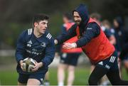 17 February 2020; Jimmy O'Brien, left, and Barry Daly during Leinster Rugby squad training at UCD in Dublin. Photo by Ramsey Cardy/Sportsfile
