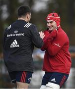 18 February 2020; John Hodnett, right, and Diarmuid Barron during Munster Rugby squad training at the University of Limerick in Limerick. Photo by David Fitzgerald/Sportsfile