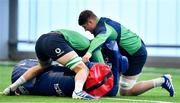 19 February 2020; Jack O'Donoghue, right, and Will Connors during Ireland Rugby squad training at IRFU High Performance Centre at the Sport Ireland Campus in Dublin. Photo by Brendan Moran/Sportsfile