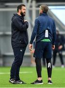 19 February 2020; Head coach Andy Farrell, left, with forwards coach Simon Easterby during Ireland Rugby squad training at IRFU High Performance Centre at the Sport Ireland Campus in Dublin. Photo by Brendan Moran/Sportsfile