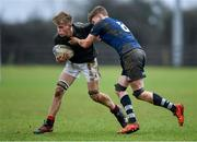 19 February 2020; Cian McMahon of Metro Area is tackled by Sean Ward of North Midlands Area during the Shane Horgan Cup Round 4 match between Metro Area and North Midlands Area at Ashbourne RFC in Ashbourne, Co Meath. Photo by Piaras Ó Mídheach/Sportsfile