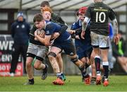 19 February 2020; Sean Ward of North Midlands Area is tackled by Peter McCabe of Metro Area during the Shane Horgan Cup Round 4 match between Metro Area and North Midlands Area at Ashbourne RFC in Ashbourne, Co Meath. Photo by Piaras Ó Mídheach/Sportsfile