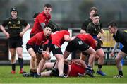19 February 2020; James Grimes of North East Area during the Shane Horgan Cup Round 4 match between North East Area and Midlands Area at Ashbourne RFC in Ashbourne, Co Meath. Photo by Piaras Ó Mídheach/Sportsfile
