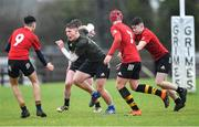 19 February 2020; Fionn O'Grady of Midlands Area during the Shane Horgan Cup Round 4 match between North East Area and Midlands Area at Ashbourne RFC in Ashbourne, Co Meath. Photo by Piaras Ó Mídheach/Sportsfile