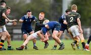 19 February 2020; Turlough O'Brien of Metro Area is tackled by Jack Crampton of North Midlands Area during the Shane Horgan Cup Round 4 match between Metro Area and North Midlands Area at Ashbourne RFC in Ashbourne, Co Meath. Photo by Piaras Ó Mídheach/Sportsfile