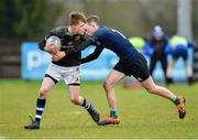 19 February 2020; Louis Perrim of Metro Area is tackled by Charlie Murphy of North Midlands Area during the Shane Horgan Cup Round 4 match between Metro Area and North Midlands Area at Ashbourne RFC in Ashbourne, Co Meath. Photo by Piaras Ó Mídheach/Sportsfile