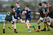 19 February 2020; Aidan Henry of North Midlands Area in action against Ben Gouldson of Metro Area during the Shane Horgan Cup Round 4 match between Metro Area and North Midlands Area at Ashbourne RFC in Ashbourne, Co Meath. Photo by Piaras Ó Mídheach/Sportsfile