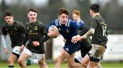 19 February 2020; Aidan Henry of North Midlands Area is tackled by Ben Gouldson of Metro Area during the Shane Horgan Cup Round 4 match between Metro Area and North Midlands Area at Ashbourne RFC in Ashbourne, Co Meath. Photo by Piaras Ó Mídheach/Sportsfile