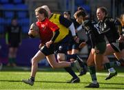 20 February 2020; Cara Martin of North East in action against Metro Area during the Leinster Rugby U18s Girls Area Blitz match between North East and Metro Area at Energia Park in Dublin. Photo by Matt Browne/Sportsfile