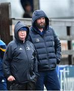 19 February 2020; Peter Kerr, Boyne CCRO, left, with  North East Area coach Colin O'Hare during the Shane Horgan Cup Round 4 match between North East Area and Midlands Area at Ashbourne RFC in Ashbourne, Co Meath. Photo by Piaras Ó Mídheach/Sportsfile