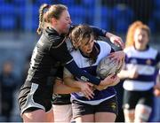 20 February 2020; Jade Laffan of North Midlands is tackled by Evelyn O'Driscoll of Metro Area during the Leinster Rugby U18s Girls Area Blitz at Energia Park in Dublin. Photo by Matt Browne/Sportsfile
