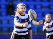 20 February 2020; Hannah Wilson of North Midlands during the Leinster Rugby U18s Girls Area Blitz at Energia Park in Dublin. Photo by Matt Browne/Sportsfile