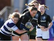 20 February 2020; Kate Edgehill 0f Metro Area in action against Aoife Sloan of North Midlands during the Leinster Rugby U18s Girls Area Blitz at Energia Park in Dublin. Photo by Matt Browne/Sportsfile