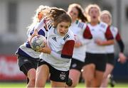 20 February 2020; Rachel Conroy of Midlands Area is tackled by Sophie Lyons of North Midlands during the Leinster Rugby U18s Girls Area Blitz at Energia Park in Dublin. Photo by Matt Browne/Sportsfile