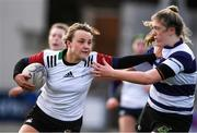 20 February 2020; Aoife Dalton of Midlands Area is tackled by Hannah Wilson of North Midlands during the Leinster Rugby U18s Girls Area Blitz at Energia Park in Dublin. Photo by Matt Browne/Sportsfile