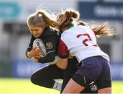 20 February 2020; Orla Hayes of Metro Area is tackled by Cara Mulcahy of Midlands Area during the Leinster Rugby U18s Girls Area Blitz at Energia Park in Dublin. Photo by Matt Browne/Sportsfile