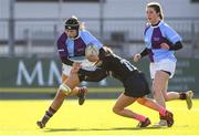 20 February 2020; Rachel Murphy of South East Area is tackled by Evelyn O'Driscoll of Metro Area during the Leinster Rugby U18s Girls Area Blitz at Energia Park in Dublin. Photo by Matt Browne/Sportsfile