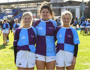 20 February 2020; South East Area players from Gorey RFC, from left, Kerry Byrne, Aine Doyle and Alex Byrne after the Leinster Rugby U18s Girls Area Blitz at Energia Park in Dublin. Photo by Matt Browne/Sportsfile