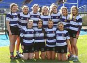 20 February 2020; North Midlands players from Port Dara RFC after the Leinster Rugby U18s Girls Area Blitz at Energia Park in Dublin. Photo by Matt Browne/Sportsfile