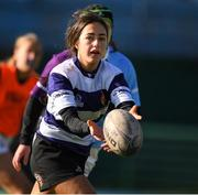 20 February 2020; Ava Gleeson of North Midlands during the Leinster Rugby U18s Girls Area Blitz at Energia Park in Dublin. Photo by Matt Browne/Sportsfile