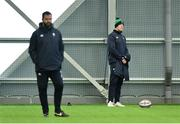 21 February 2020; Former Ireland captain Paul O'Connell, right, and head coach Andy Farrell during Ireland Rugby squad training at the IRFU High Performance Centre at the Sport Ireland Campus in Dublin. Photo by Seb Daly/Sportsfile